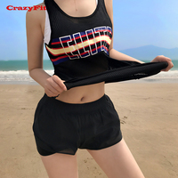 Women Fitness Vest Yoga Tank Top Woman Gym Sports Workout 2017 Mesh Hole Sleeveless Breathable Quick Dry Polyester Black Running
