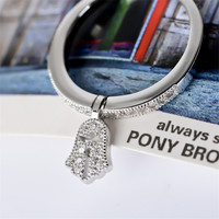 Free P P Not Fake New 2014 Fashion Micro Pave Cute Feet Ring 100 HI Q