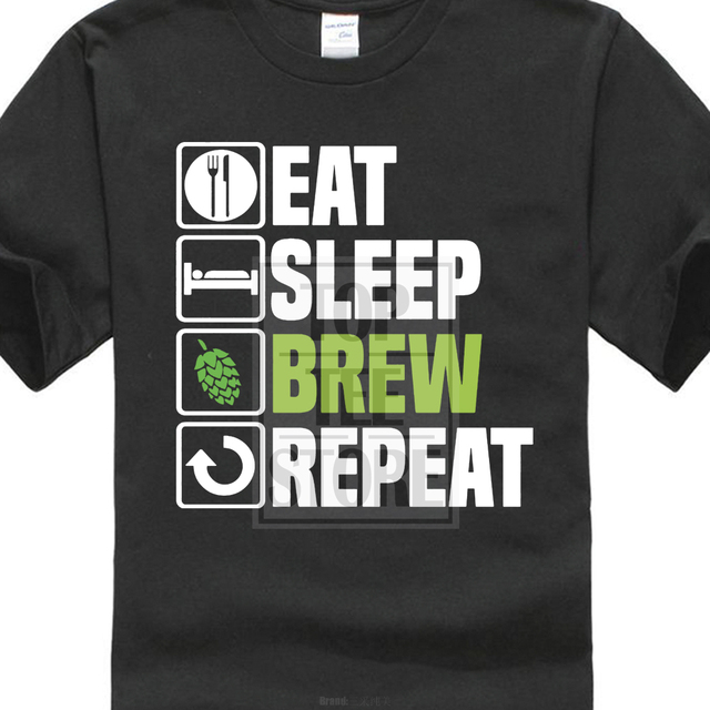Eat Sleep Brew T shirt Mashton Brewery Craft Beer Hops Birthday ...
