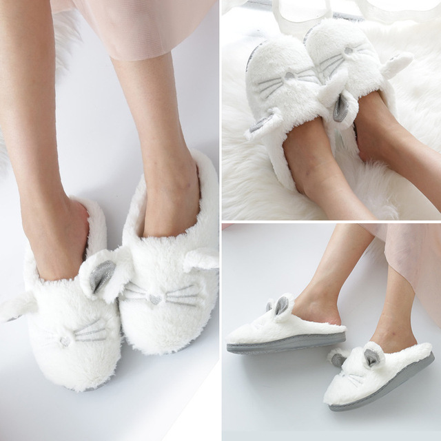 Cute Fluffy Cat Slippers 4