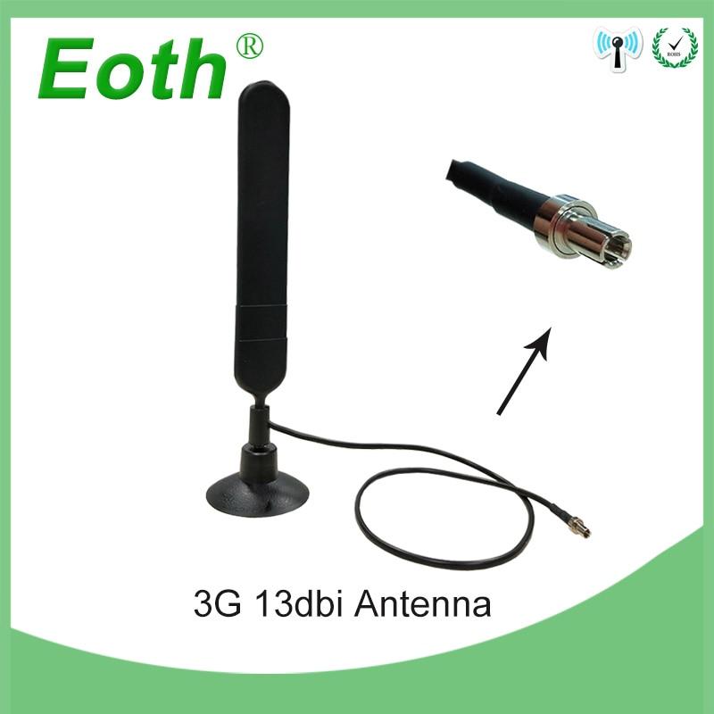 5 pièces Eoth 4G LTE Antenne 3G 4G Antenne TS9 13dbi 4G modem routeur antenne avec 0.5 m câble pour huawei 3G 4G Modem Mifi Routeur