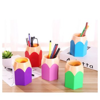 office accessories pen holder pen organizer pencil holder Container Stationery Desk Organizer Tidy Container office organizer round transparent plaid pen holder office organizer pen pencil holder storage box office learning desk supplies stationery h168