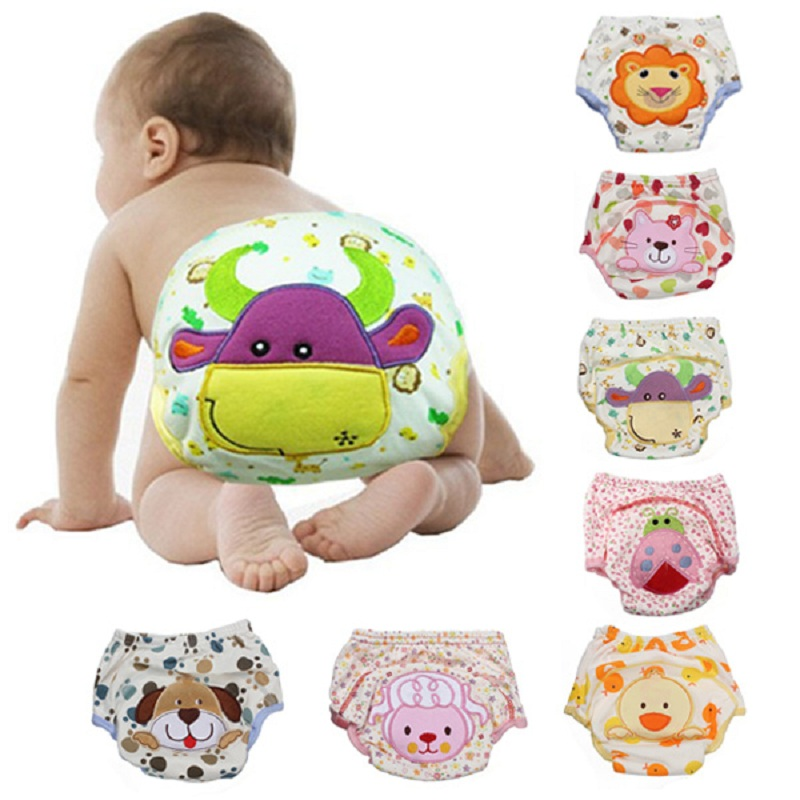 Baby Reusable Diapers L Cotton Washable Cloth Diaper Cover Children Baby Nappies Baby Swim Nappy Training Pant Soft