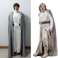 Star Wars 8 :The Last Jedi Luke Skywalker Cosplay Costume Adult Mens Halloween Carnival Cosplay Outfit Clothing