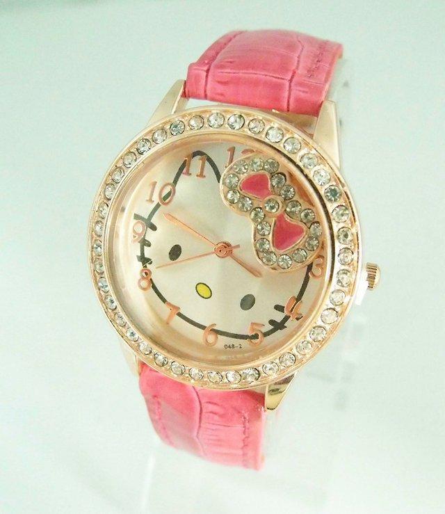 Fashion Super Cute Cartoon Hello Kitty Watch for Girl Hand ...