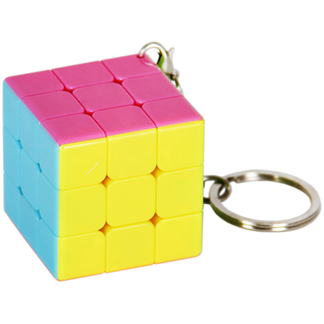 High Quality Mini Speed Magic Cube 3 On 3 Toy for Kids Three Layeres 3*3 Keychain Ultra-smooth Puzzle Cube Stickerless 3.5CM 3x3