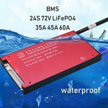 24 s 72 v 84 v lipo li ion lifepo4 li bateria de lítio placa de proteção bms equilíbrio à prova dwaterproof água ferro 30a 40a 60a 24 células pcb ebike