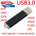 RealCapacity + Goodquality Флэш-Накопитель USB 3.0 Pendrive 64 ГБ 128 ГБ 16 ГБ 32 ГБ Черный и Синий Usb Memory Stick Pen Drive 256 ГБ 512 ГБ Ключ
