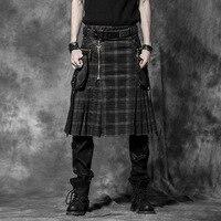 New Punk Rave Gothic Rock Mens Fashion Skirt Pants Cargo Kera Emo L XL XXL 3XL