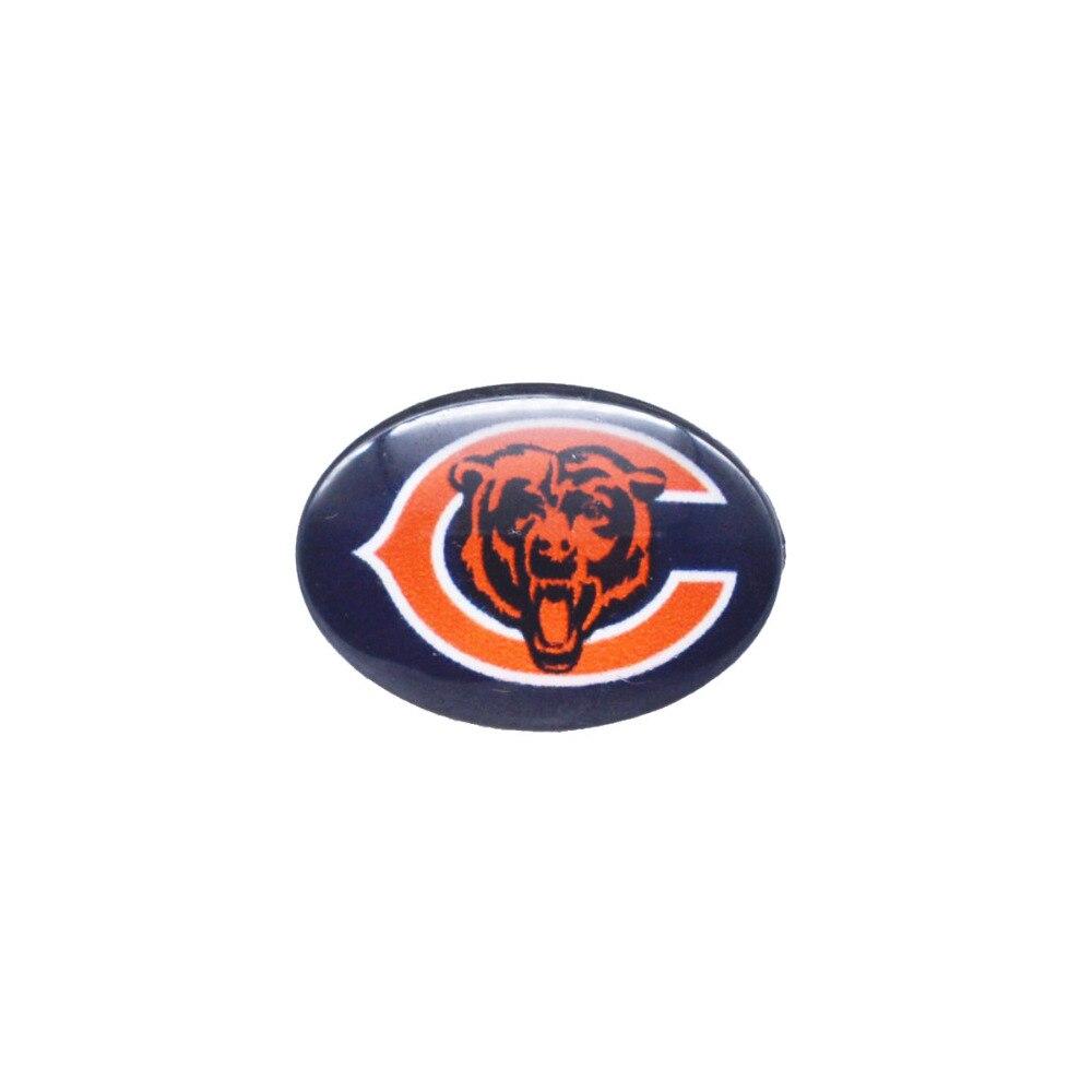Стекло кнопки 18 мм x 25 мм Chicago Bears Талисманы оснастки браслет для Для женщин Для мужчин Футбол Вентиляторы подарок пати день рождения Мода 2018