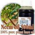 Gratis shopping100 % chinaberry aceite 500 ml de base de vegetales puros aceites prensados en Frío de aceite de neem Matar parásitos, retire ácaros