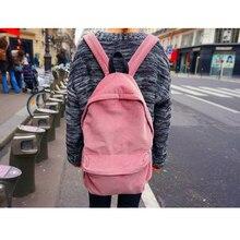 Women Simple Backpack Corduroy School Bags Mochila Japan Teenager Girls Students Back Pack Travel Bag Rucksack Bagpack Schoolbag