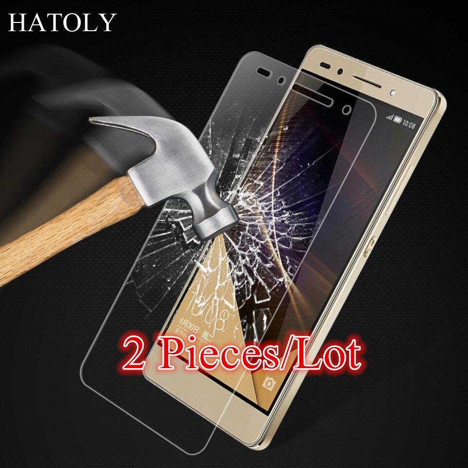 HATOLY Для Huawei Honor 7 Стекло Ультра Тонкий Защитная Пленка Протектор экрана для Huawei Honor 7 Закаленное Стекло Huawei Honor 7
