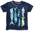 Marcas de moda 2016 de Los nuevos Niños camiseta de los muchachos de la camiseta Ropa de Bebé muchacho del Verano camiseta 100% algodón de los muchachos de calidad superior ropa