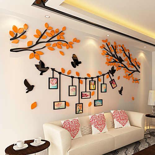 Деревянная фоторамка настенные наклейки для кухни гостиной акриловый для спальни 3D наклейки s для семьи/свадьбы настенные декорации Декор для дома