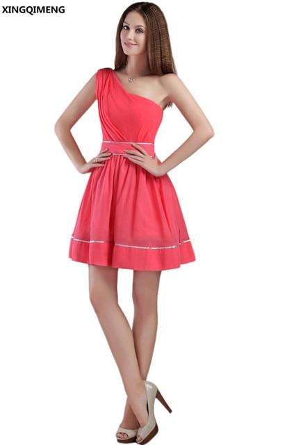 Simple Elegant One Shoulder Dress
