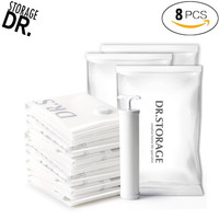 DR.STORAGE 9pcs/pack Vacuum Bags for Clothes with Pump Space Saver Ziplock Storage Bag Sealer Compression Packaging Clothing