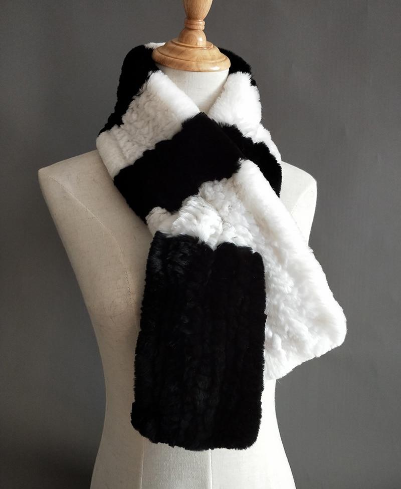 Natural Fur Scarf Women Winter Real Rex Rabbit fur Scarves cachecol bufandas New arrival muffler thermal Soft (1)