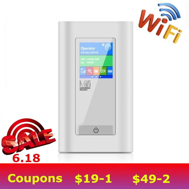 Voiture Modem sans fil 4G LTE routeur 5200 Mah batterie externe 3g 4G routeur Dongle avec deux fente pour carte SIM Port RJ45 travail aux USA/CA/mexique
