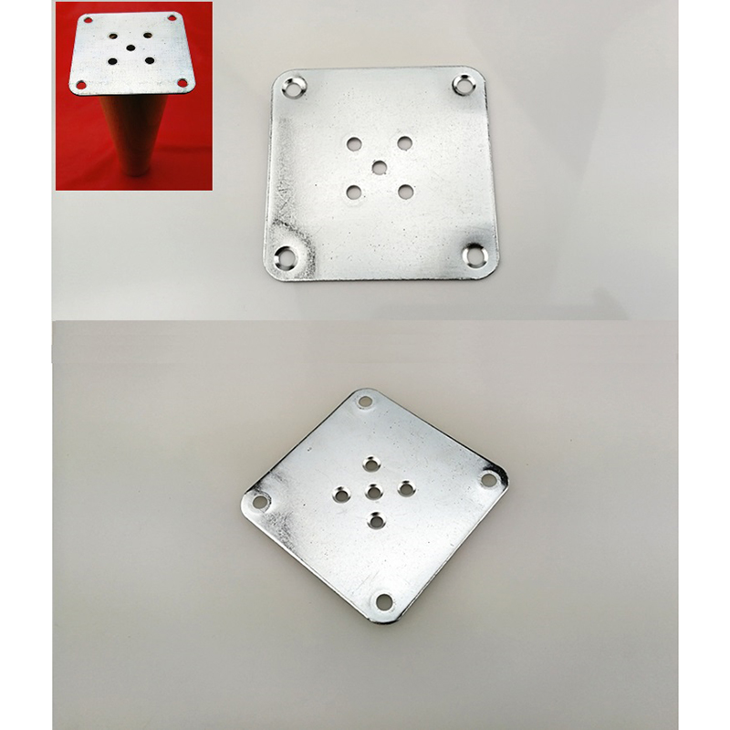 12Pcs/Lot 1.5mm Thick Leg Mounting Plate Furniture Legs Attachment Plate Mounting Feet Adapter