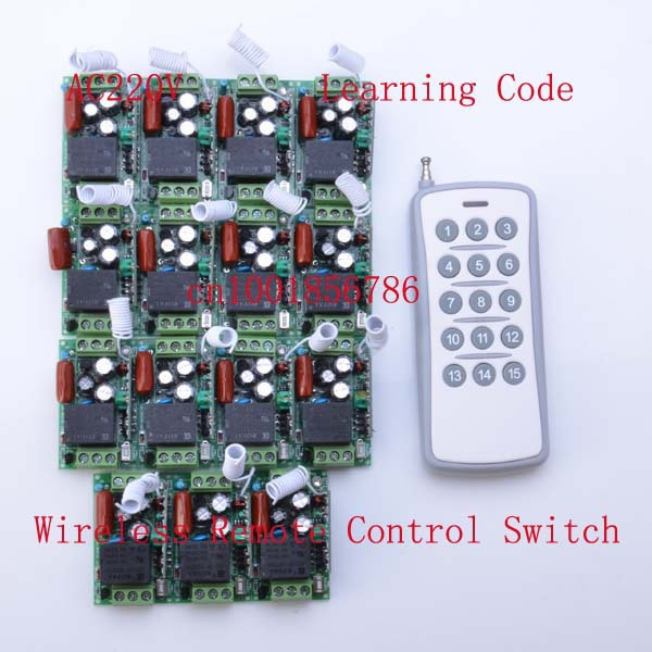 15CH Learning code Wireless Remote Control Switch System Each CH is Independent 10A Toggle/Momentary LED ON OFF Wireless Switch new rf wireless switch wireless remote control system 2transmitter 12receiver 1ch toggle momentary latched learning code 315 433