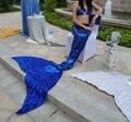 Abalorios rhinestone de lujo azul adulto para mujer ladies lentejuelas completos sirena de la cola con rebordear top / ariel mermaid costume