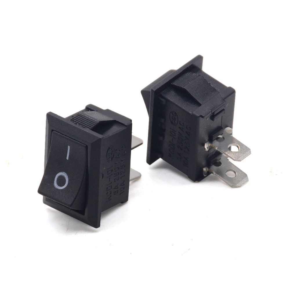 5pcs/lots 2Pin Snap-in ON/OFF KCD1-101 Car Boat Round Rocker Toggle SPST Switch 125V 6A