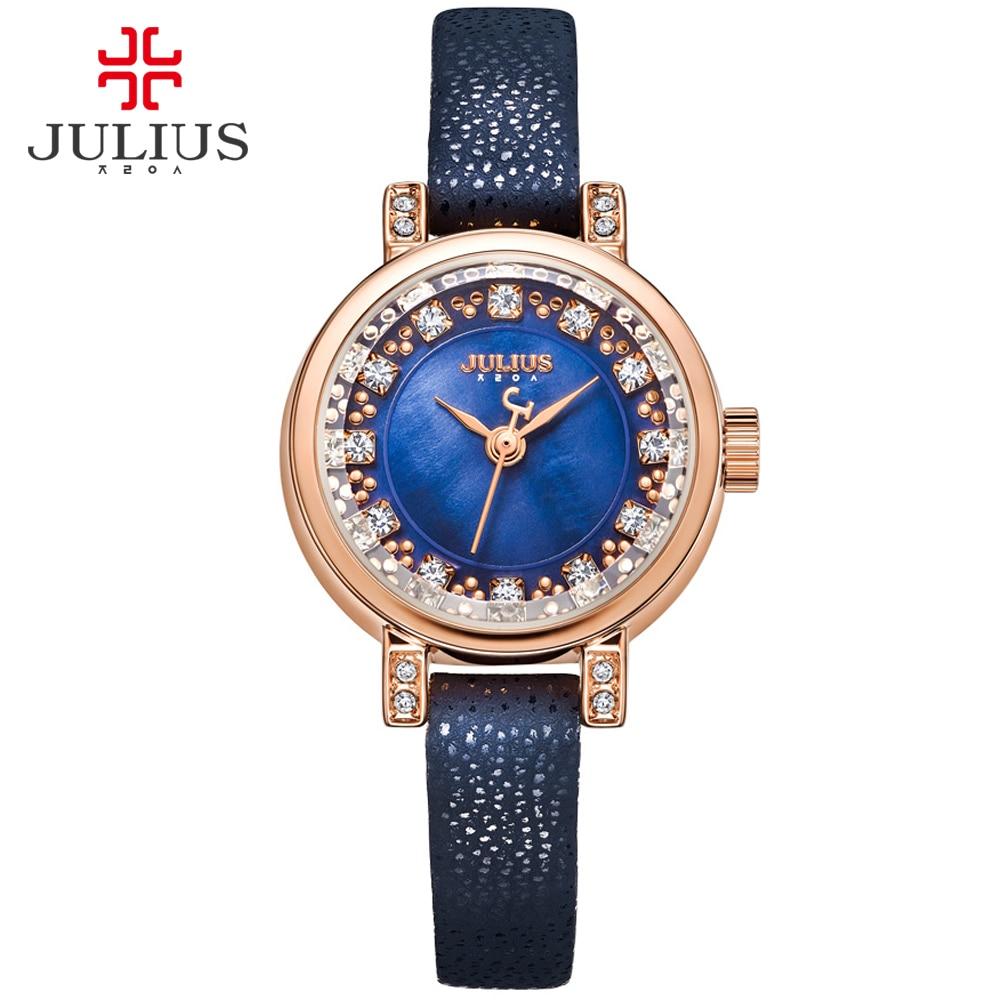 JULIUS Watch For Girls Wacht Women Femmes Montres Vrouwen Horloges Watches Ladies Wrist Watch Leather Strap Uhren Damen JA-884