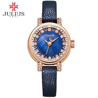 JULIUS Watch For Girls Wacht Women Femmes Montres Vrouwen Horloges Watches Ladies Wrist Watch Leather Strap Uhren Damen JA 884