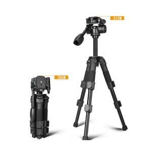 Q166S портативный мини 3-секционный Настольный Штатив для фотосъемки с 3-полосной панорамной/наклонной головкой Максимальная высота 51 см/груз...