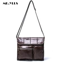 MR.YLLS Vintage Men Genuine Leather Messenger Bag Luxury Brand Designer Male Shoulder Bag Men Multi-pocket Crossbody Bags