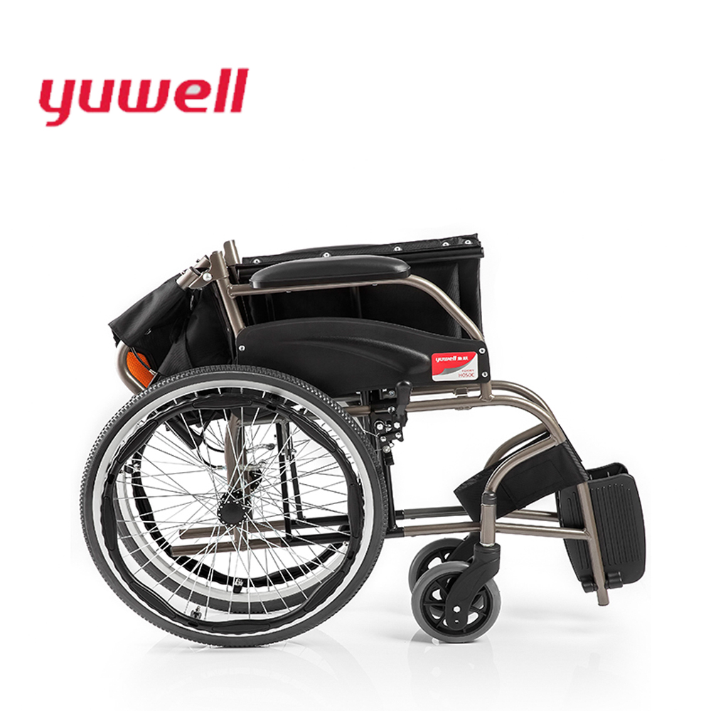 yuwell Medical Instruments Portable Folding Back Wheelchair Disabled People Manual Lightweight Wheelchair Health Equipment H050C outdoor folding power motorized handicapped electric wheelchair