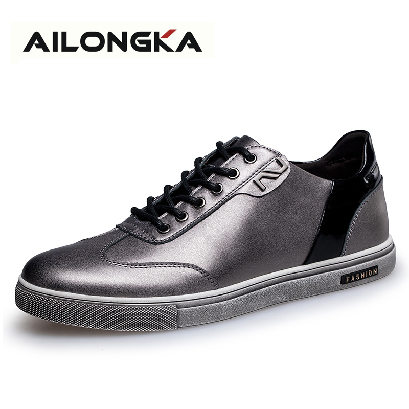 Men Casual Shoes Luxury Genuine Leather Flats Summer Leather Shoes Men, Lace Up Zapatillas Hombre Size 38-43