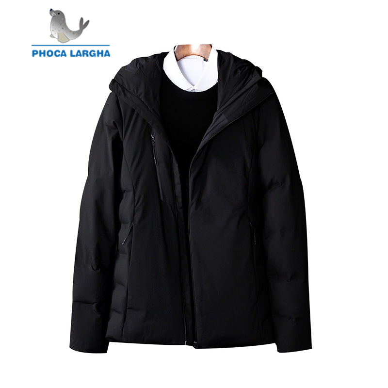 2018 New Men's Winter   Down   Jackets And   Coats   Thick Warm Parkas Mens Casual Solid Color Hooded   Down     Coats   Male Brand Clothing