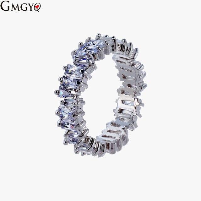 Us 264 45 Offfashion Koperen Ring Met Sparkling Ladder Vierkante Zirkoon Voor Vrouwen Nieuwe Mode Bruiloft Sieraden Crystal Ring Gift In Rings