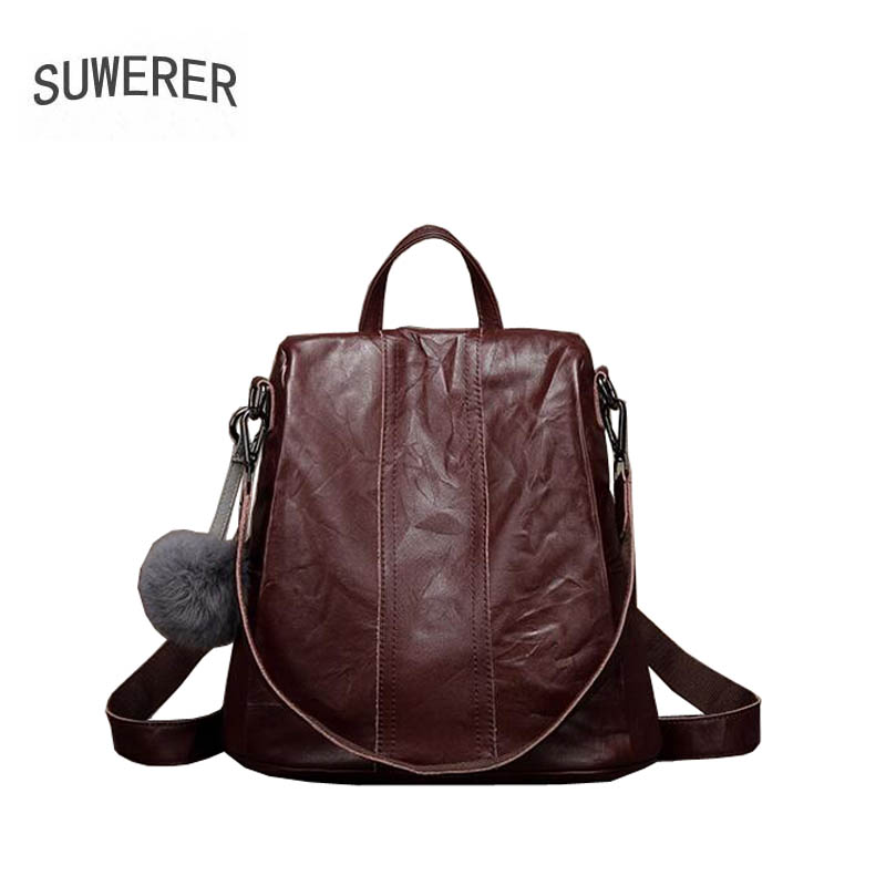SUWERER high quality fashion luxury brand shoulder bag female leather suede leather chest bag dual-use multi-function casual antSUWERER high quality fashion luxury brand shoulder bag female leather suede leather chest bag dual-use multi-function casual ant