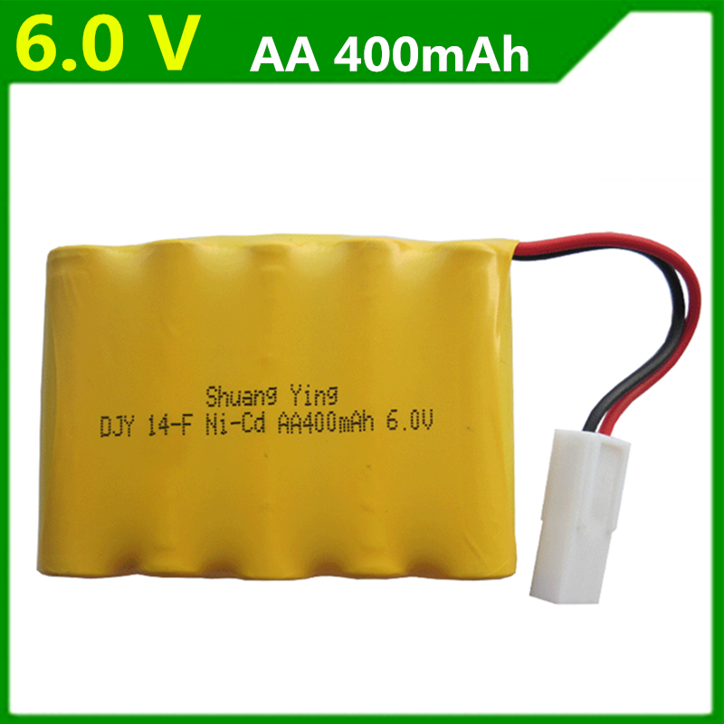 1 pcs Genuine 6V 400mAh rechargeable battery pack Double Eagle E703-001 remote control car battery AA batteries