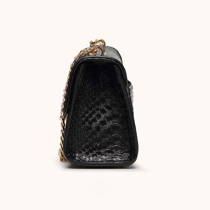 Fashion Alligator Women Crossbody Bags Elegant Chains Lady Shoulder Messenger Bag Leaf Lock Boxy Bag Casual Small Handbag Summer in Shoulder Bags from Luggage Bags