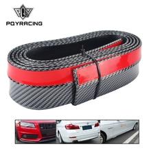 Bumper-Strip Carbon-Fiber Rubber Exterior Black Soft Car-60mm-Width Lip-Kit Pqy-Real