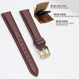 Image 3 - 12mm 14mm 15 mm 16mm 17mm 18mm 20mm rose gold white black brown leather strap, strap lady watch free postage.