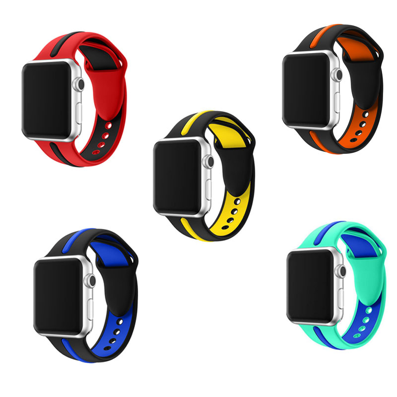 High quality sport silicone strap for apple watch band 42mm rubber wrist bracelet strap for iwatch 4/3/2/1 38mm 40mm 44mmHigh quality sport silicone strap for apple watch band 42mm rubber wrist bracelet strap for iwatch 4/3/2/1 38mm 40mm 44mm