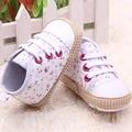 Encantador 0-12 M Del Bebé Del Cabrito de La Muchacha Zapatos Del Pesebre Del Niño Suela Blanda Sneakers Prewalker