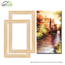 Drop Shipping Wood frame for canvas oil painting Factory Price nature wood DIY picture