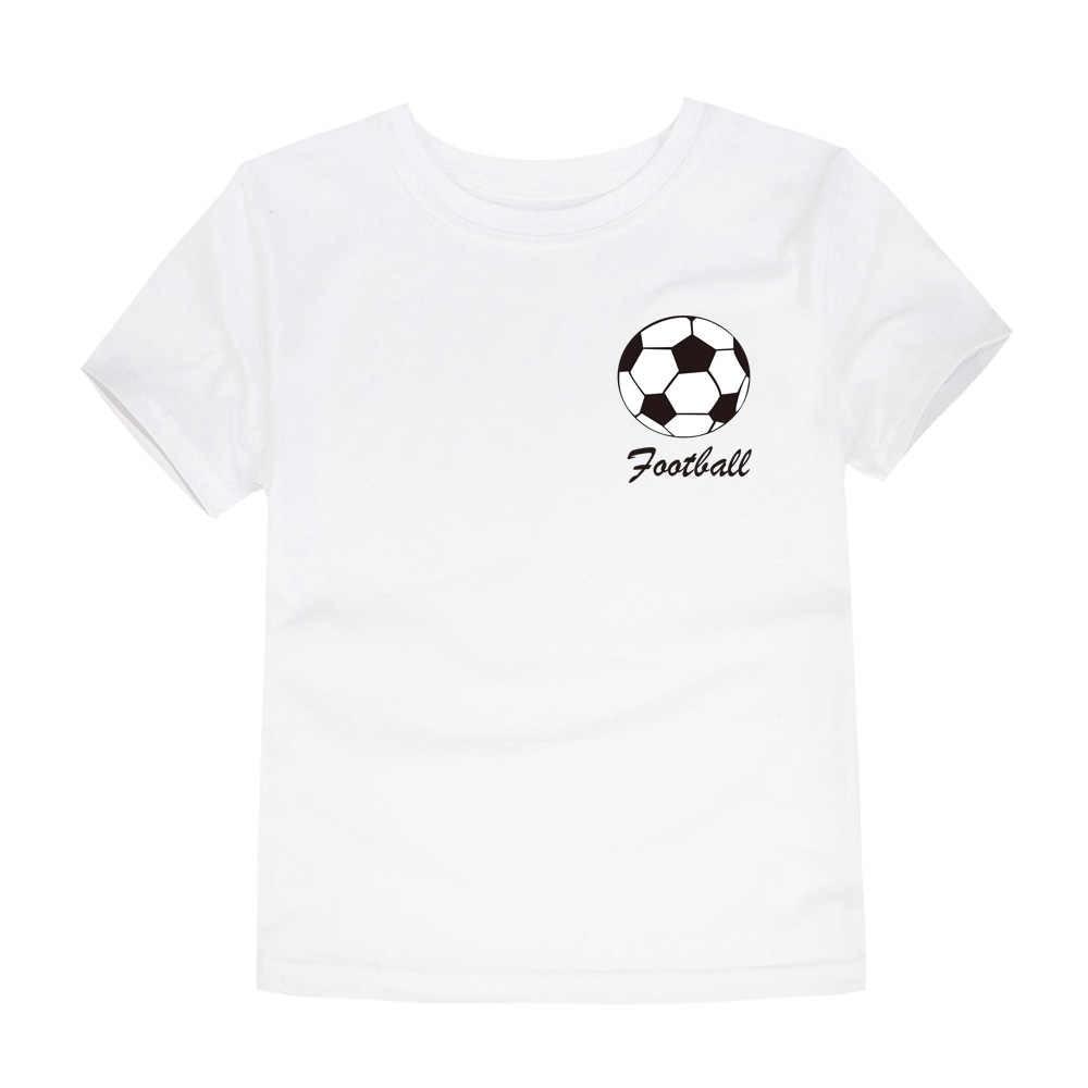 2019 Yaz Erkek Takım Giyim Çocuk Futbol Takımı T Shirt Erkek Tees Çocuk Giysileri Kız T Shirt 1- 14 yıl