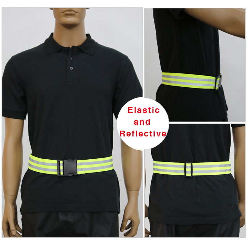 Reflective Strap, Riding Vest Belt, Reflective Vest Elastic Band Waistband for Night Outdoor Running Cycling Working adjustable reflective arm leg ankle band for cycling running