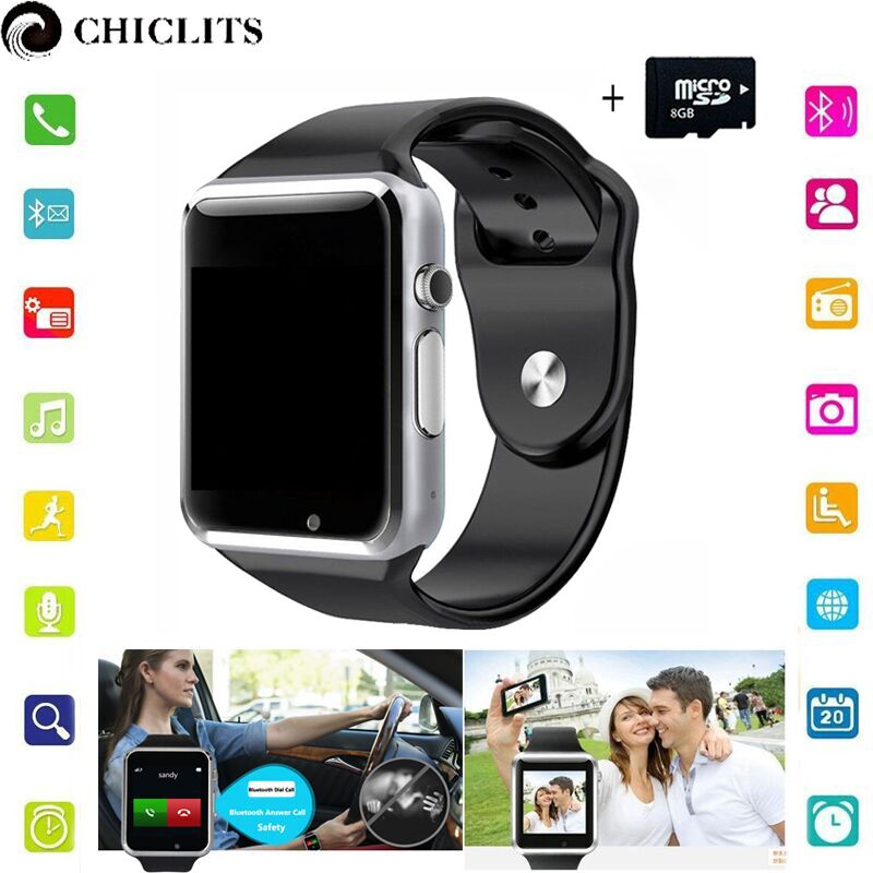 a1 Bluetooth Smart Watches Android New Smartwatch with Camera Sport Pedometer Tracker Wearable Device for Android