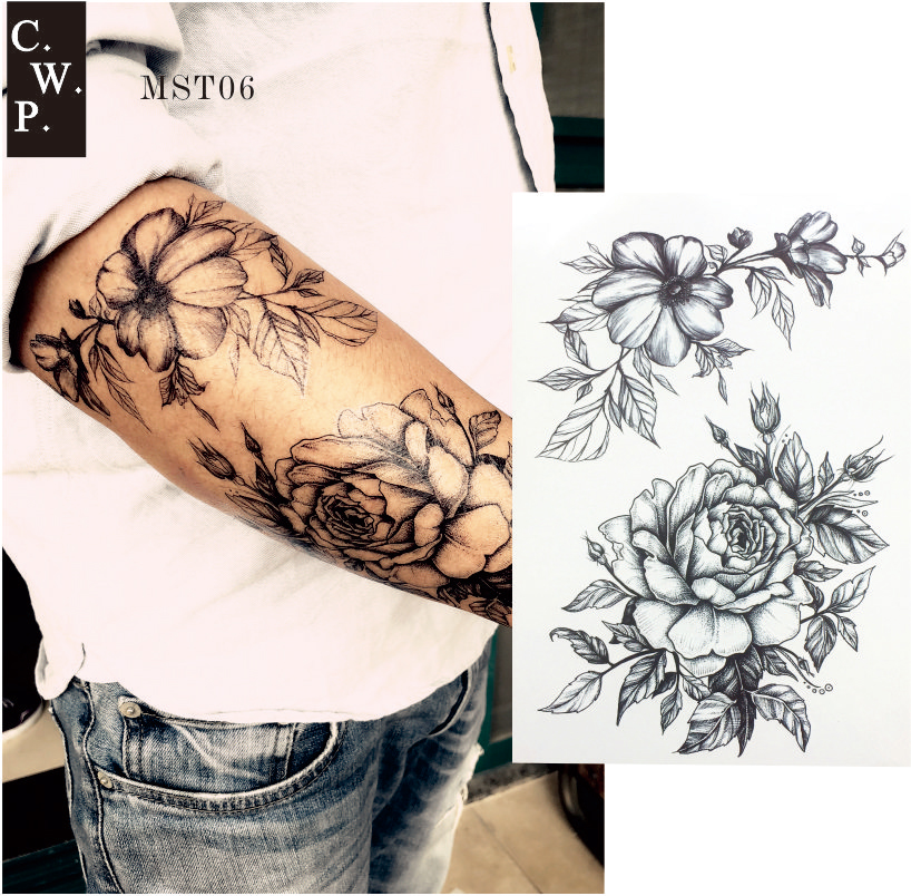 Cool Flower Tattoos: Aliexpress.com : Buy MST06 1 Piece At Your Pick Cool Black