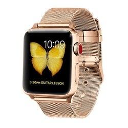 Milanese kayış için Apple saat bandı 4 44mm 40mm iwatch bileklik 38mm 42mm paslanmaz çelik tel örgü bilezik watchband Apple izle 4 3 21
