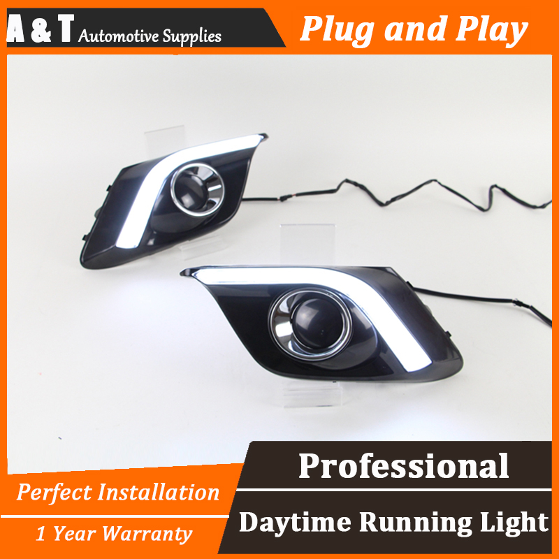 car styling For 3 Axela LED DRL For 3 Axela High brightness guide LED DRL led fog lamps daytime running light Light guide car led daytime running light for mazda 3 axela fog lamp drl 2010 2011 2012 2013 white yellow