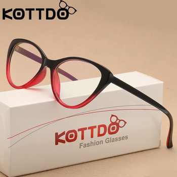 KOTTDO Vintage Cat Eye Glasses Women Eyeglasses Frame Optical Spectacle Men Transparent Clear Lens Glasses Frames Eyewear Oculos sorbern men s glasses clear lens eyewear tr90 eyeglasses frames men unisex nerd glasses women spring hinge frame glasses optic